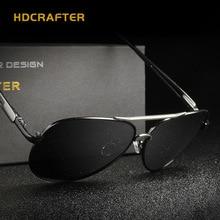 HDCRAFTER Men Fashion Polarized Pilot Sunglasses Brand Designer Leisure Anti-UV Metal Frame Sun Glasses oculos de sol Eyewear