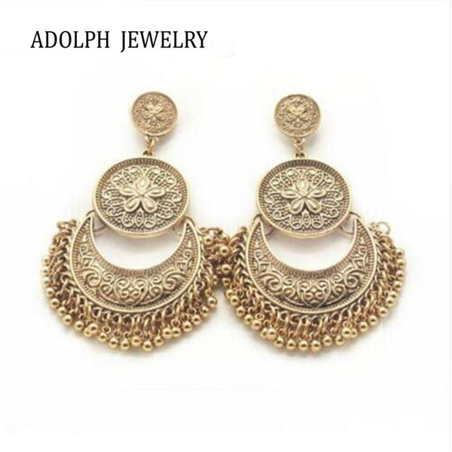 Adolph Jewelry Whole 2017 New Design Fashion Earrings Vintage Alloy Pattern Metal Stud Earring Best Gift