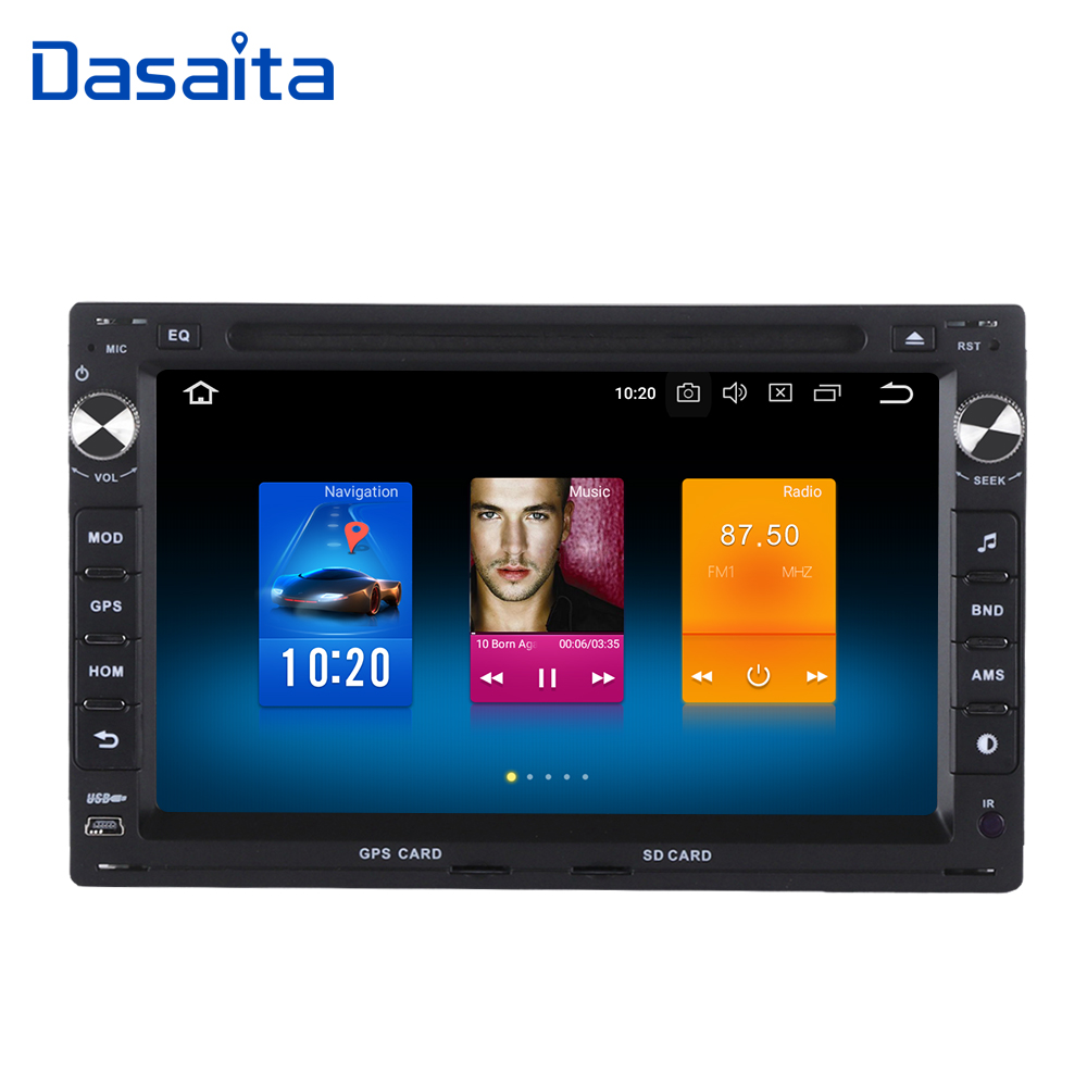 "Clearance Dasaita 7"" Android 9.0 Car GPS Radio DVD Player for Passat(MK5) Jetta Golf Transporter with Octa Core 4GB+32GB Stereo Multimedia 0"