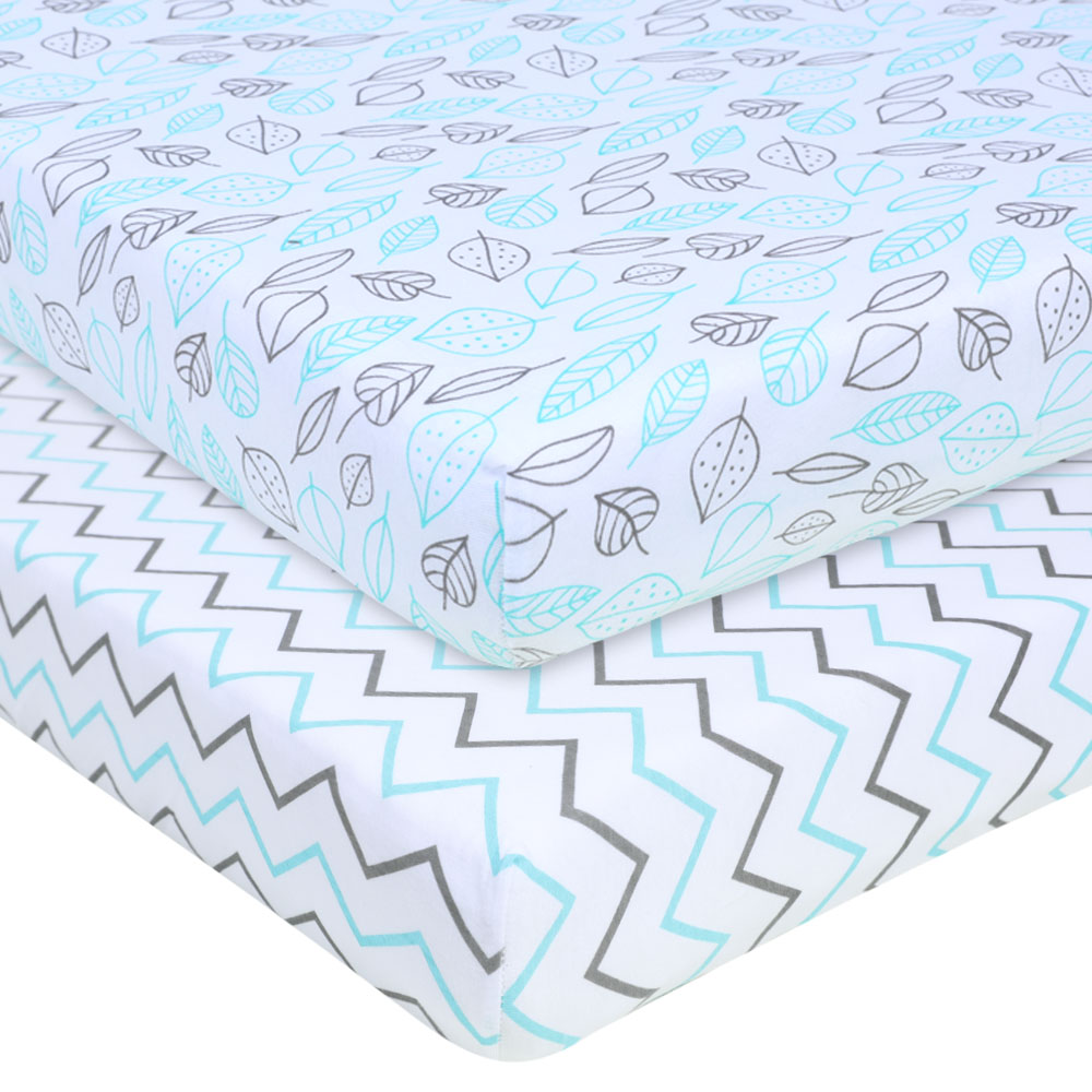 Baby Bed Sheet Cotton Smooth Comfortable Baby Mattress Cover Baby Fitted Sheet Print For Crib Customize Bedding Cover