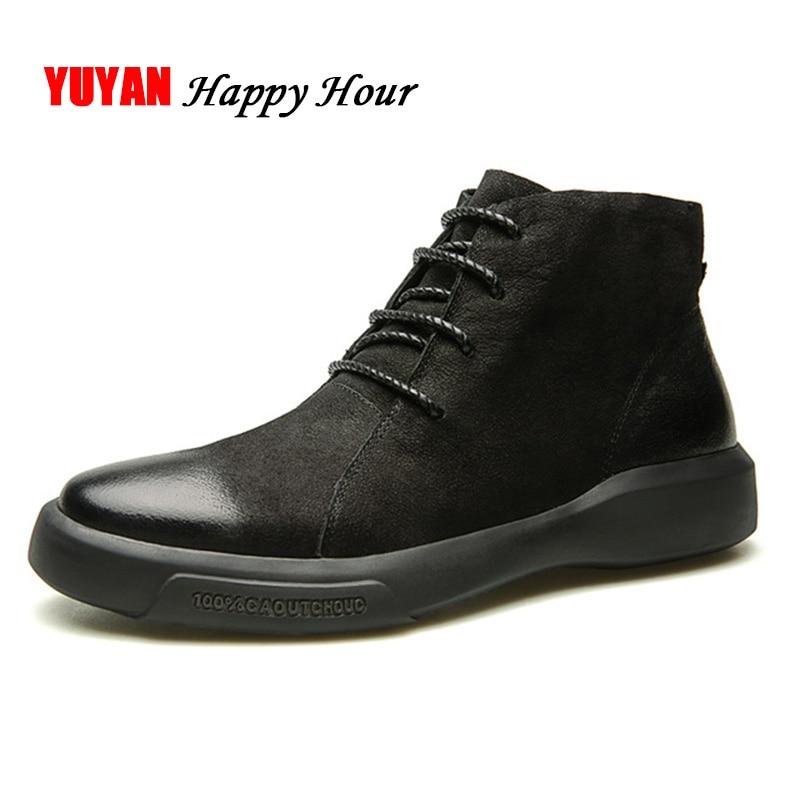 Suede Leather Boots Men Winter Shoes Genuine Leather Men's Ankle Boots Hard Outsole Non-slip Fashion Man Brand Botas A374 видеодомофон kocom kcv a374 black