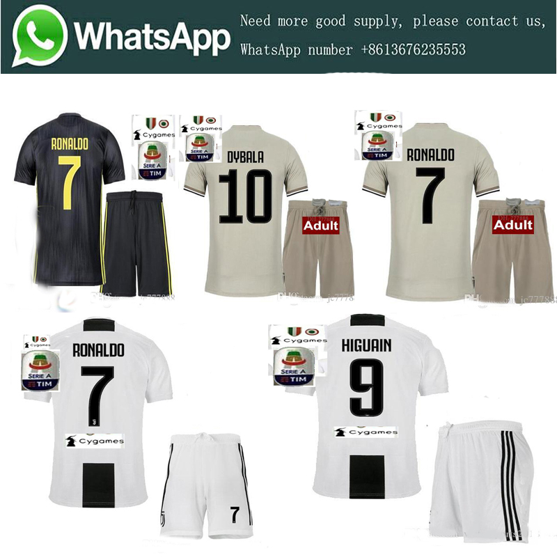 379ed39cc Hot sale 2018 Serie A patch Quality RONALDO JUVENTUSES Soccer Jerseys kit 18  19 JUVE Dybala Home Away Third Football Shirt kit-in Soccer Jerseys from  Sports ...