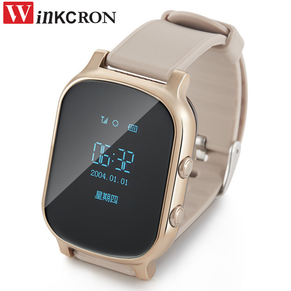 WINKCRON T58 GPS tracker watch for kids child gps bracelet google map sos button gps bracelet personal tracker gsm gps locator