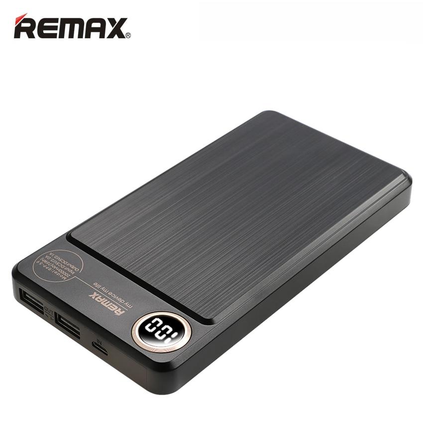 imágenes para Remax rpp-59 batería de polímero banco de la energía 20000 mah dual usb rápido cargador de teléfono móvil portátil de carga de batería externa powerbank