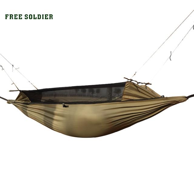 FREE SOLDIER Многофункциональная удобная подвесная износостойкая койка и палатка защиты от комаров для туристов и бивака