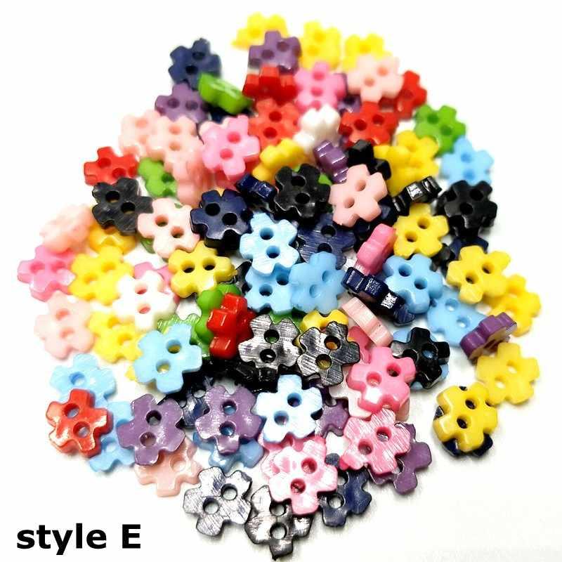 HL 400 шт 6 мм Мини Пластиковые кнопки смешанные цвета 6 видов стилей DIY Скрапбукинг Детская Одежда Швейные куклы аксессуары