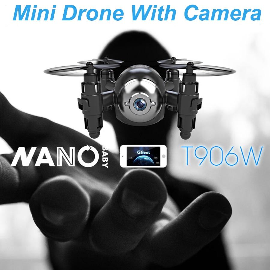 Gteng t906w FPV-системы Mini Дрон с камерой HD Quadcopter Вертолет Selfie Дрон радиоуправляемые игрушки Квадрокоптер MultiCopter