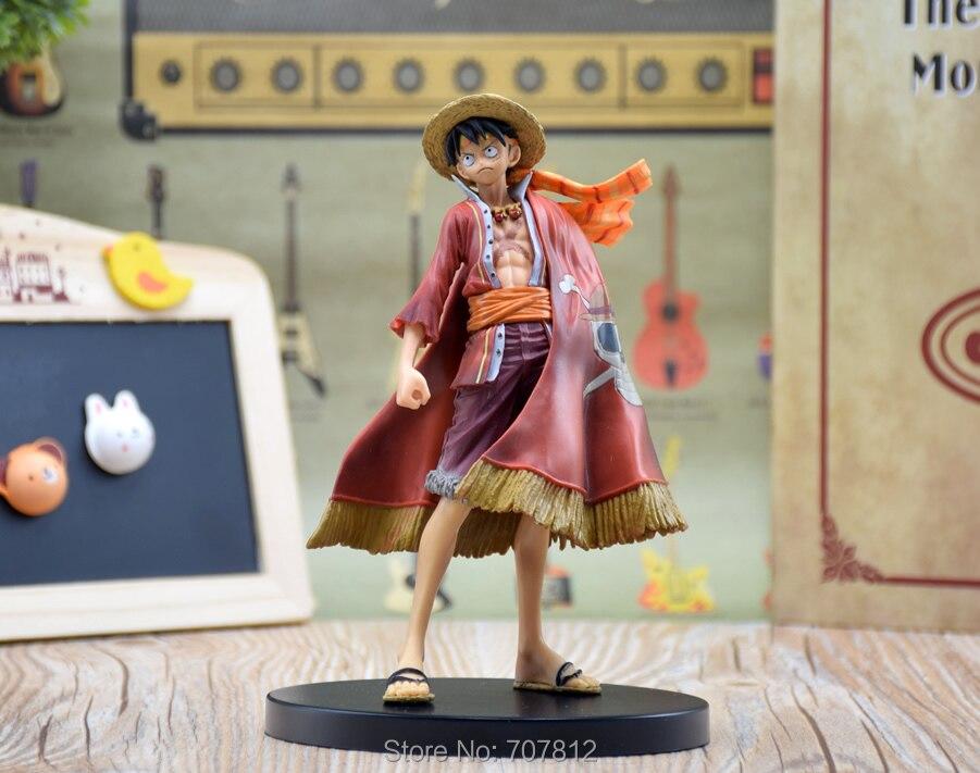Anime One Piece Luffy Figure Grandline 15th Anniversary PVC Action Figure Model Toy 18CM HZW004
