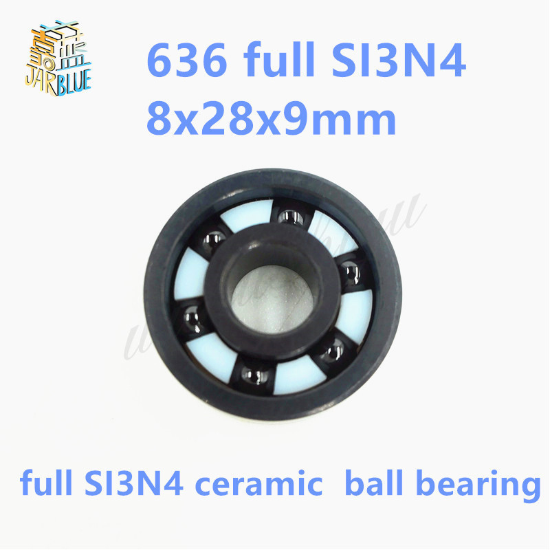 Free shipping 638 full SI3N4 ceramic deep groove ball bearing 8x28x9mmFree shipping 638 full SI3N4 ceramic deep groove ball bearing 8x28x9mm