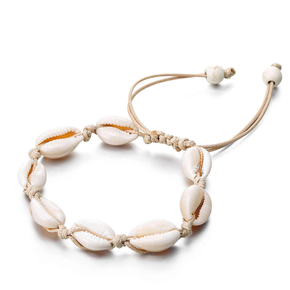 ボヘミアン多層アンクレットブレスレットシェルカメ女性ヴィンテージシルバーカラーのアンクレットファッション夏のビーチの宝石
