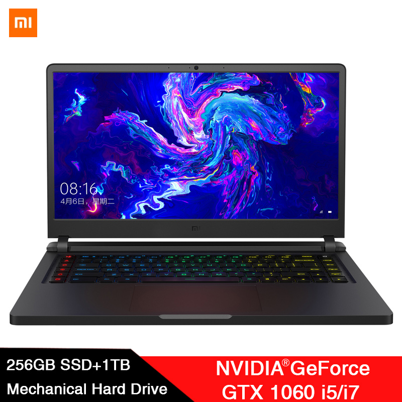 Original Xiaomi Mi Gaming Laptop 15.6 Inch Intel Core i7 Six Core 16GB/i5 Quad Core 8GB SSD 256G+1TB Windows 10 WiFi BT 4.1 PC