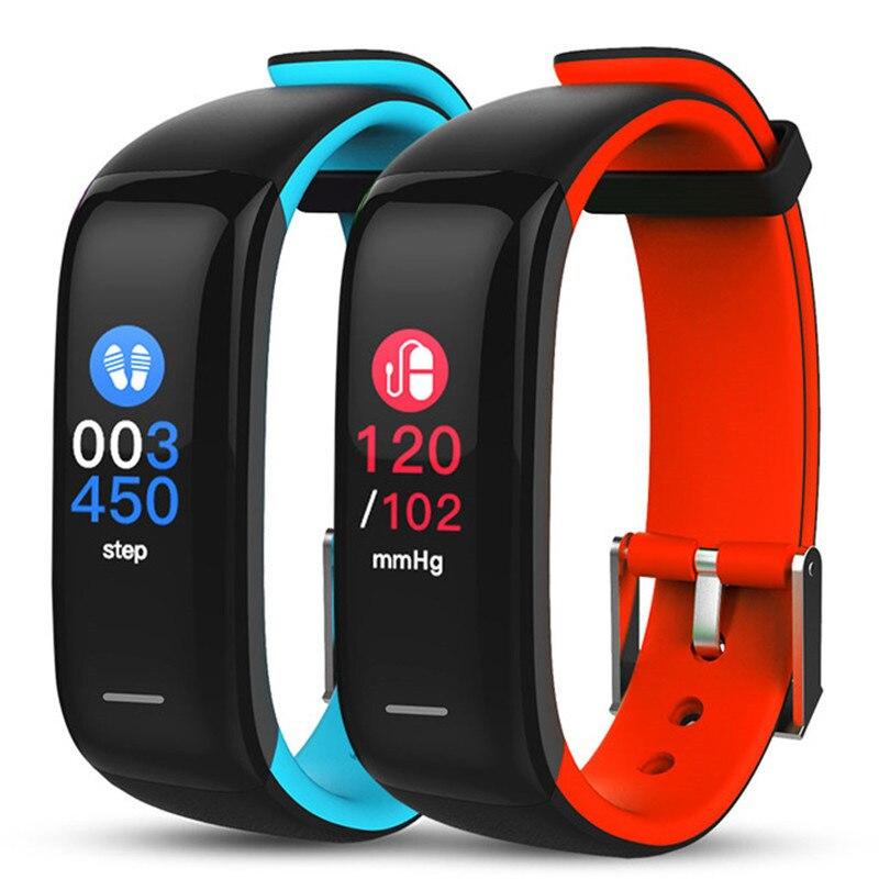 Braccialetto intelligente Monitor di Frequenza Cardiaca Accurate Blood Pressure Monitor Dello Schermo di Tocco Variopinto Fascia di Forma Fisica PK fitbits SmartBand