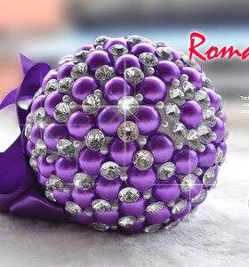Image 4 - Kyunovia 4 צבע אלגנטי פרל פרח מיני חתונה זרי כלה זר זר הכלה שושבינה כלה קריסטל Sparkle FW74