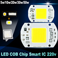 Нет необходимости водитель СВЕТОДИОДНЫЙ Чип 50 Вт 30 Вт 20 Вт 10 Вт 5 Вт 220 В Вход Smart IC high lumen светодиодные лампы Для DIY СВЕТОДИОДНЫЙ Прожектор Прожектор