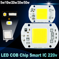 COB LED Lamp Chip Beads 5W 20W 30W 50W 220V Input Smart IC Driver Fit For