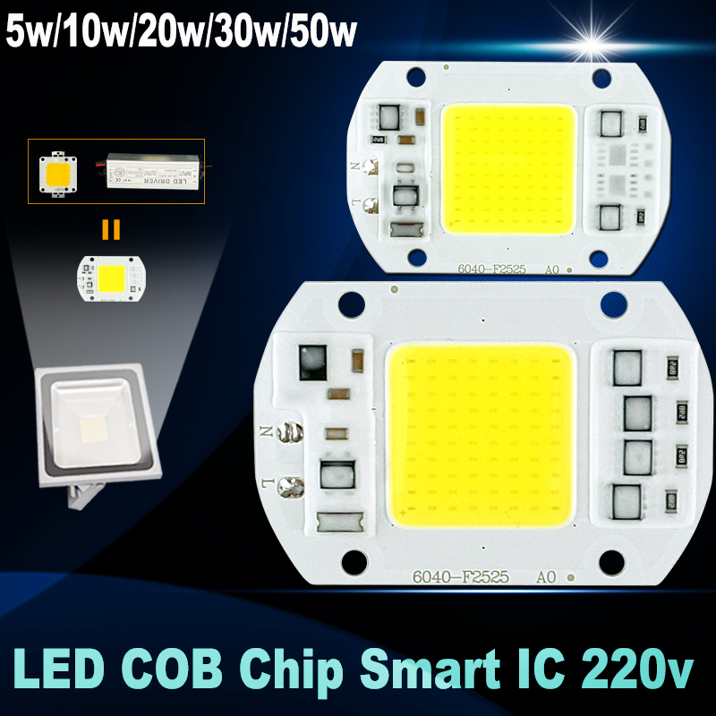 No need driver led chip 50w 30w 20w 10w 5w 220v input smart ic high lumen