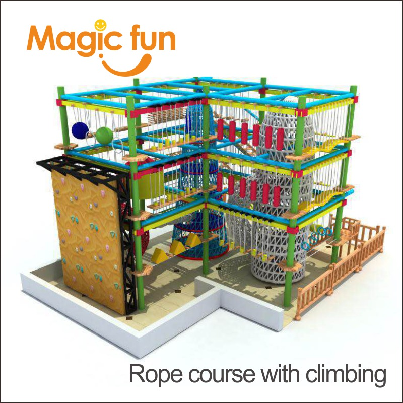 MAGIC FUN outdoor climbing facility rope course with climbingMAGIC FUN outdoor climbing facility rope course with climbing