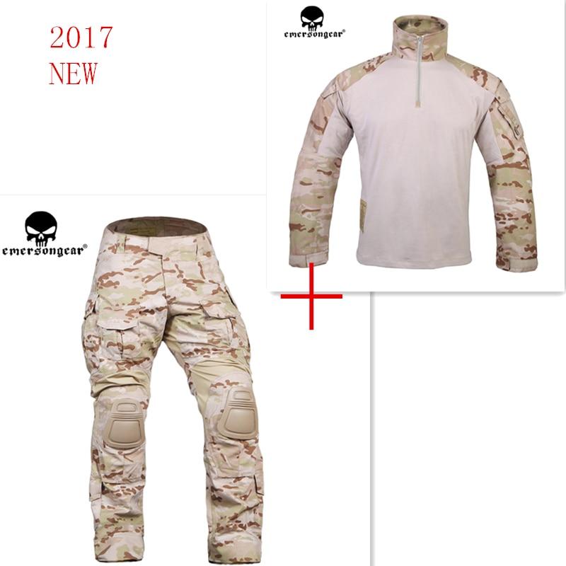 MultiCam Arid Emerson bdu G3 uniform shirt Pants with knee pads airsoft waregame Hunting EM7042+EM9255 MCAD CPMultiCam Arid Emerson bdu G3 uniform shirt Pants with knee pads airsoft waregame Hunting EM7042+EM9255 MCAD CP