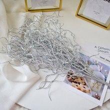bf6ffbf122 Oro, Plata flor bling ramas artificial secos dorado hierba boda fiesta  Navidad flor para la