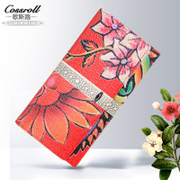 Cossroll new fashion creative retro ladies long wallet card package foreign trade manufacturers custom wallet
