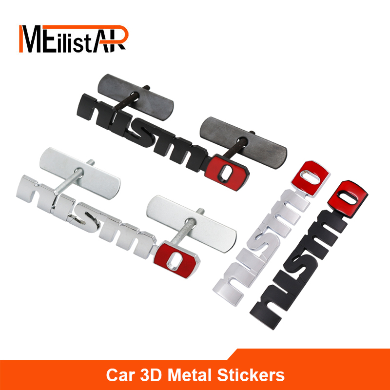 Meilistar Brand 3D Metal Auto Car Nismo Badge Emblem Decal Nismo Sticker for Nissan Juke Tiida Teana GTR GTR 350Z 370Z 240SX ECT for nissan gtr gtr r35 led tail lights 2007 red