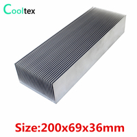 (High power)  200x69x36mm Aluminum heatsink  Heat Sink radiator cooler for chip LED Electronic cooling