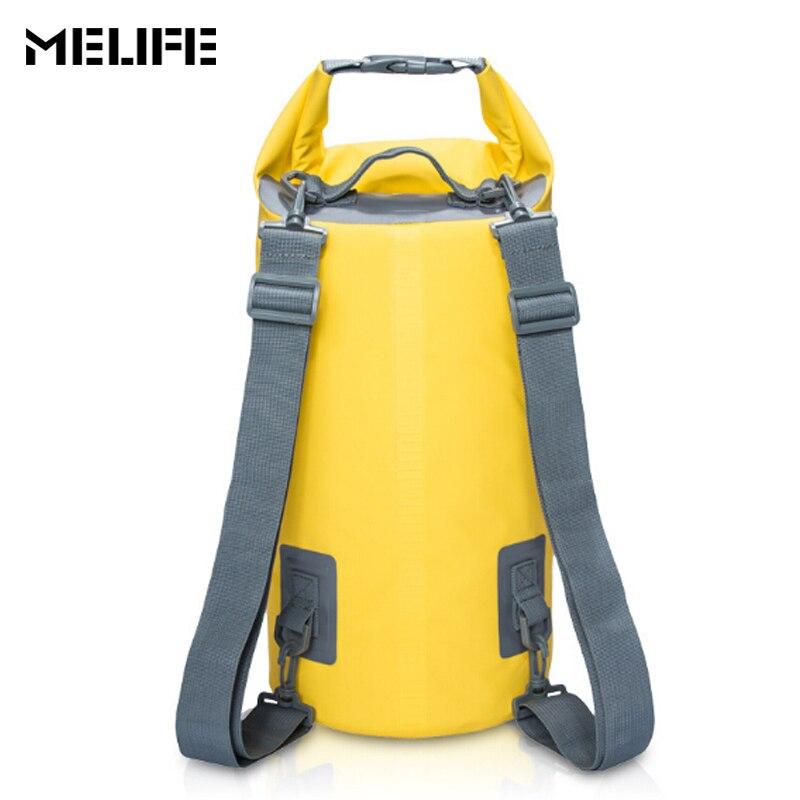 MELIFE Waterproof Swimming Bags Dry Bag Canoe Kayak Rafting Outdoor Sport Bags Travel Kit Equipment Ocean Pack 5L 10L 15L 20L