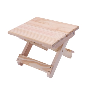 Image 3 - كرسي الشاطئ المحمولة بسيطة خشبية كرسي بلا ظهر قابل للطي أثاث خارجي كراسي الصيد الحديثة كرسي تخييم صغير البراز