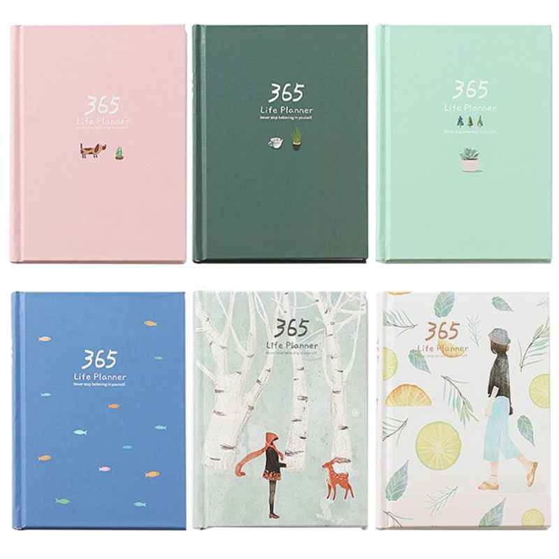 Schedule Notebook 365 Days Planner Weekly Monthly Yearly Plan Book