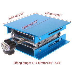 "Image 5 - 1 pc 4 ""x 4"" roteador de alumínio mesa elevador carpintaria gravura suporte de levantamento de laboratório rack"