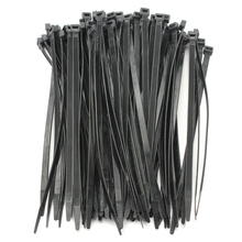 100PCS Strong Cable Ties / Tie Wraps Zip Ties Color:Black Size:4.8*350mm