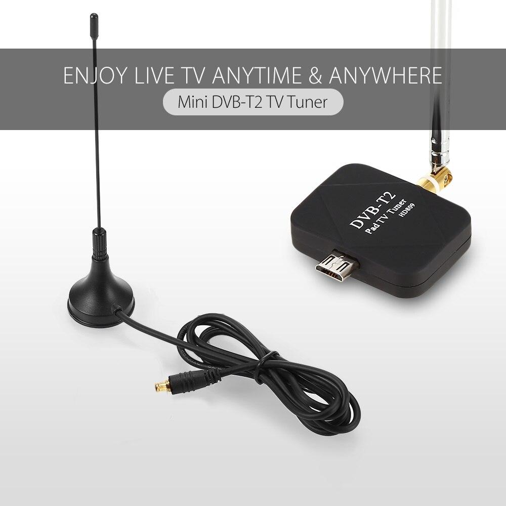 Wechip TV Empfänger Micro Smart DVB T2 Mini Satellite TV Tuner USB DVB-T2 Signal Digitale Empfänger für Android-Handy Smartphone