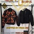 Dhl em estoque 2016 fw homens marcelo burlon alpha ma-1 jaqueta/pissis alpha ma-1 orange/preto sobre tamanho xs-xl