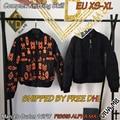 Dhl en stock 2016 fw marcelo burlon hombres alfa ma-1 chaqueta/pissis alfa ma-1 orange/negro más tamaño xs-xl