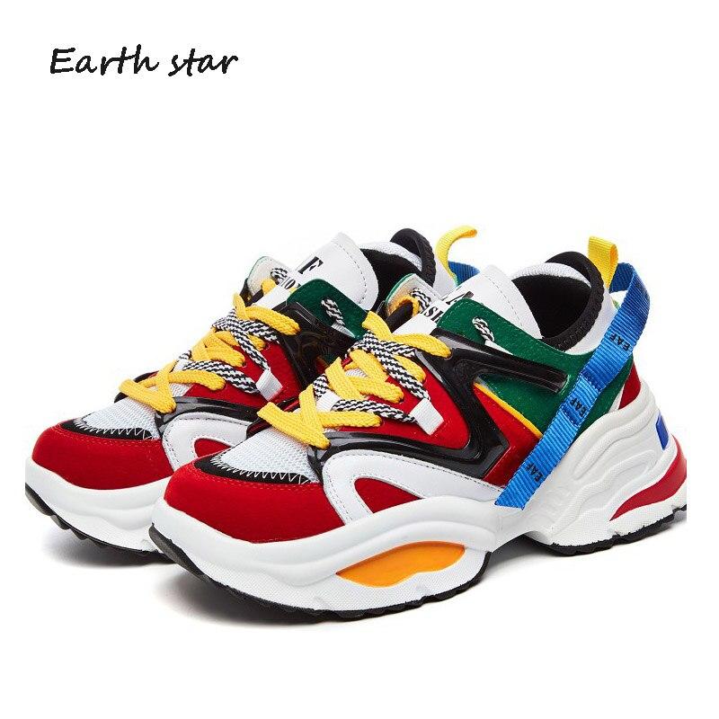 Blancos de cuero Real zapatos de moda de las mujeres zapatillas de deporte de la marca alta señora zapatilla transpirable Mujer otoño Casual aumento calzado
