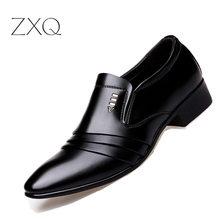 Luxury Brand PU Leather Fashion Men Business Dress Loafers P