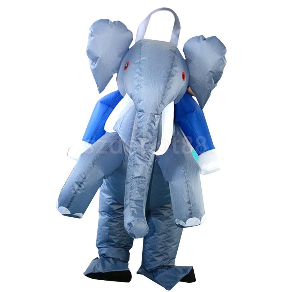 Elephant Inflatable Adult Costume Blowup Jumpsuit Halloween Fancy Dress