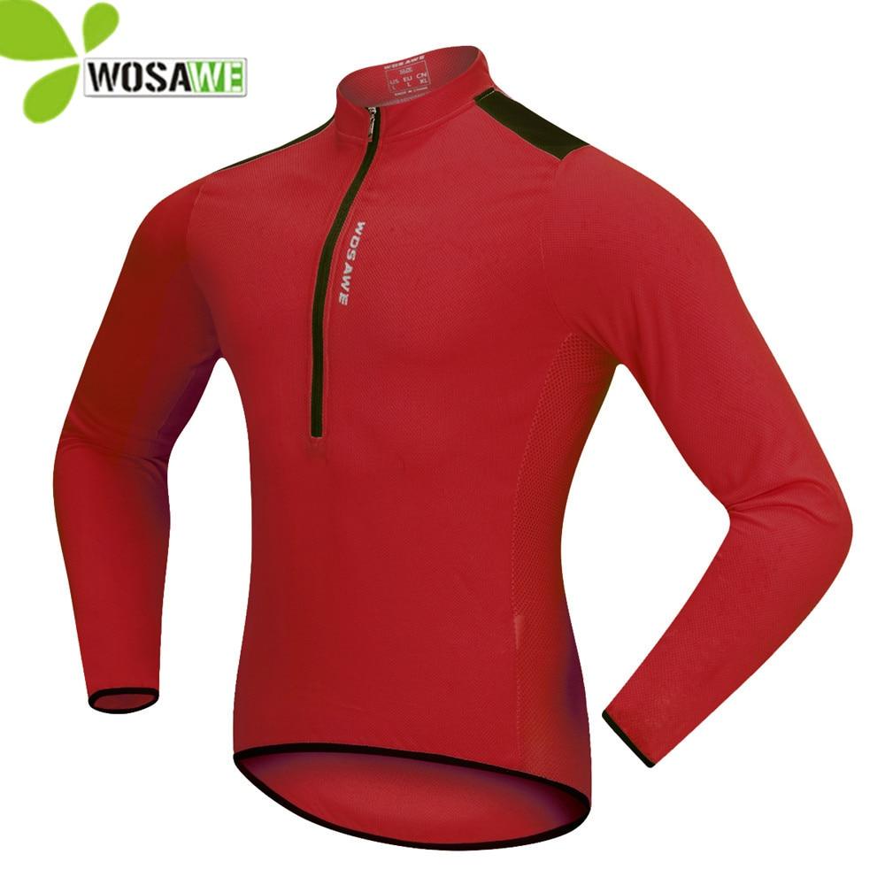 WOSAWE hombres sólidos mujeres maillot manga larga equipo maillot MTB  bicicleta ropa riding camisetas tight bike jersey 6e6c0fe6ffa3f