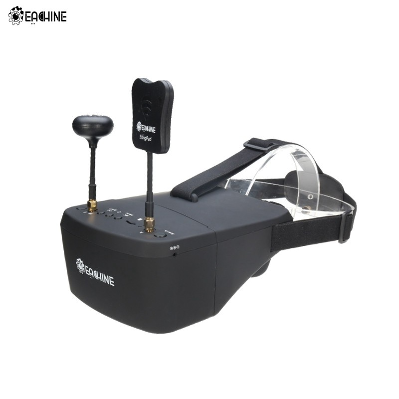 In Stock Eachine EV800D 5.8G 40CH Diversity FPV Goggles 5 Inch 800*480 Video Headset HD DVR Build in Battery VS Fatshark Aomway in stock eachine ev800d 5 8g 40ch diversity fpv goggles 5 inch 800 480 video headset hd dvr build in battery vs fatshark aomway