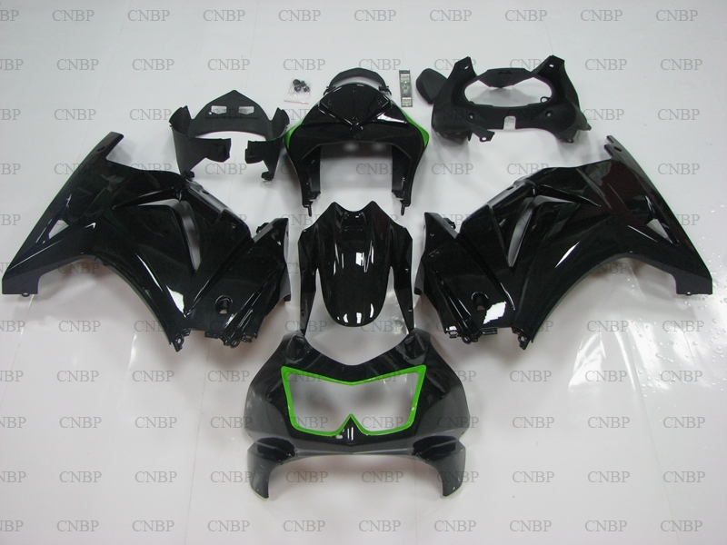 EX 250 2012 Fairings for Kawasaki Zx250r 2008 2014 Black Green Fairing Kits EX 250 13 14 Fairing