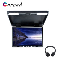 Monitor In Car 15.4 HD Digital Panel TFT LCD Screen Built in IR Transmitter With Dual Dome Lights Car Roof Screen MP5 Player