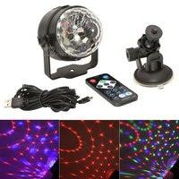 סטיילינג המכונית Led דיסקו קסם גביש מיני USB מחבר RGB 3 W כדור מנורת שלב אור DJ קריוקי חלק USB אורות לייזר Led אורות