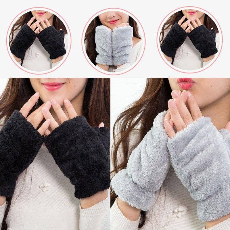 Damen-accessoires Treu Hirigin Mode-warm-damen-frauen-strick-finger-handschuhe-weiche Witer Arm Wärmer Weder Zu Hart Noch Zu Weich