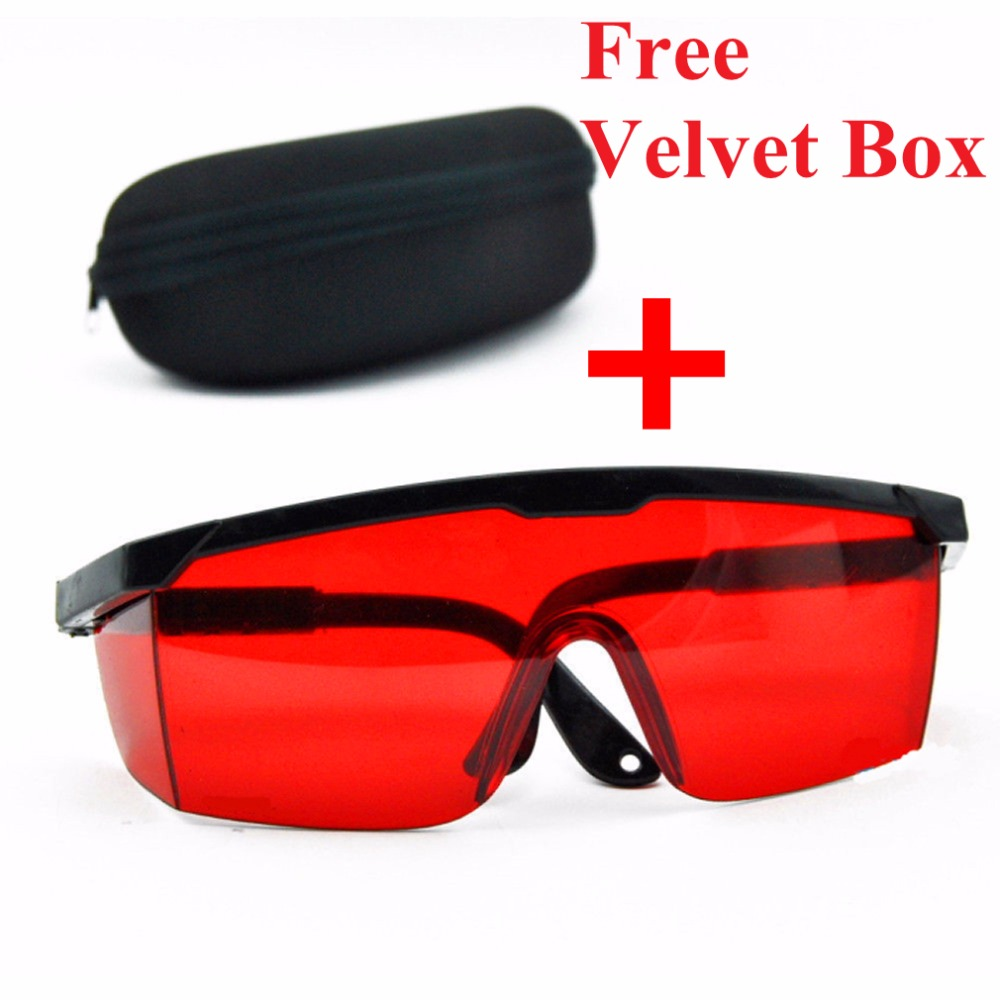 1 Set Red Blue Goggles Laser Safety Glasses 190nm to 540nm Laser protective eyewear With Velvet Box Free Shipping laser safety glasses 190 540nm