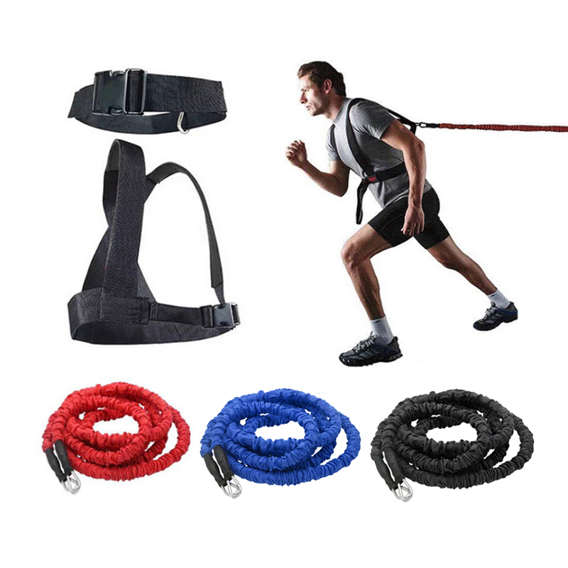 Double resistance band training pull rope stretch rope track and field track and field running explosive