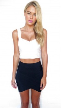 Free Delivery European and American fashion star Various colors cross bandage skirts 6