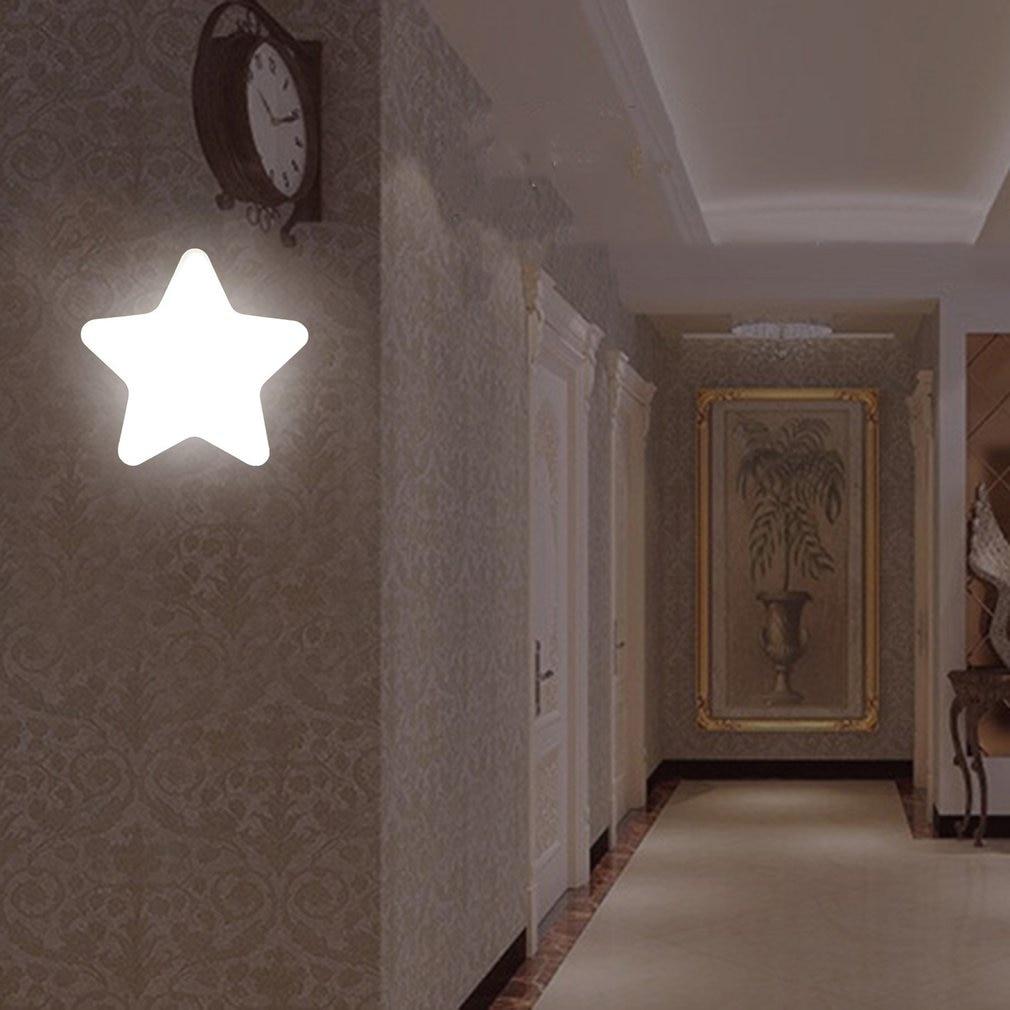 ICOCO Modern Star Shape Wall Light LED Induction Lamp Nightlight Automatic Switch Light Sensor Household Supplies Energy Saving