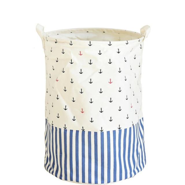 Modern Storage Baskets Handbags Laundry Basket Folding Storage Boxes  Sundries Bags Cotton Linen Basket For Toys
