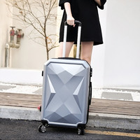 ABS+PC Drill surface suitcase,Rolling luggage,Universal wheel hard shell trolley case,20Boarding box,Password Trunk