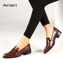 Женские модельные туфли Туфли-оксфорды официальная Рабочая обувь черного цвета на плоской подошве ботинки в стиле рет